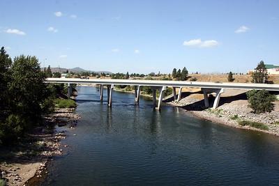Spokane river. I90 Bridge going over the river. Sept 2010