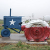 Even this tractor shows the dedication to the state of Texas in Munday, Texas.