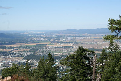 View of Coeur d' Alene from Canfield Mt.
