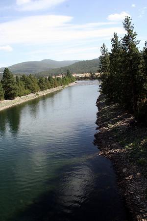 View of Spokane River from Centenial trail bridge. Sept 2010