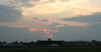 Sunset over the Fair Grounds