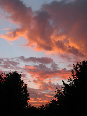 Sunset from our back yard. Sept 2010