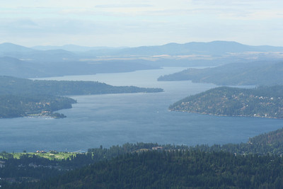 View of Coeur d' Alene Golf course  & Lake Coeur d' Alene from Canfield Mt.
