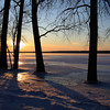Winter sunset on the Illinois River