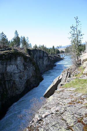 Spokane River at Post Falls Dam April 2011
