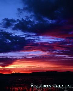 Sunset on the marsh, Box Elder County Utah