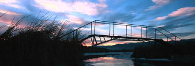 Foot bridge over the marsh, Box Elder County Utah