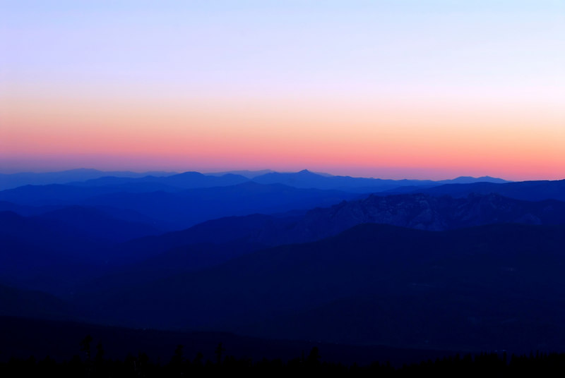 View from Mt. Shasta at Sunset