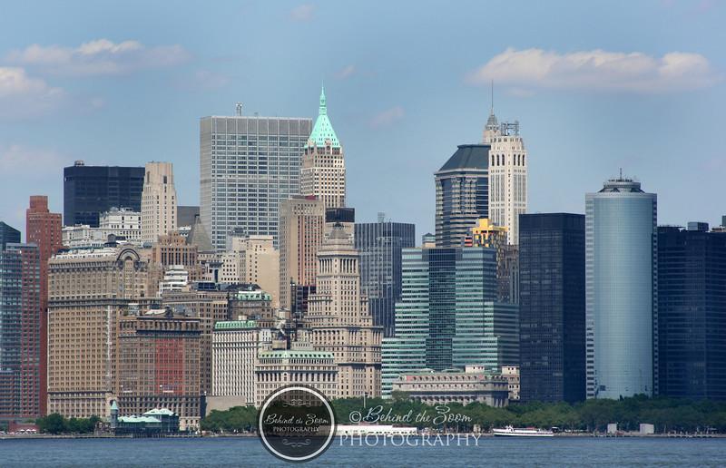 Manhattan skyline summer 2008