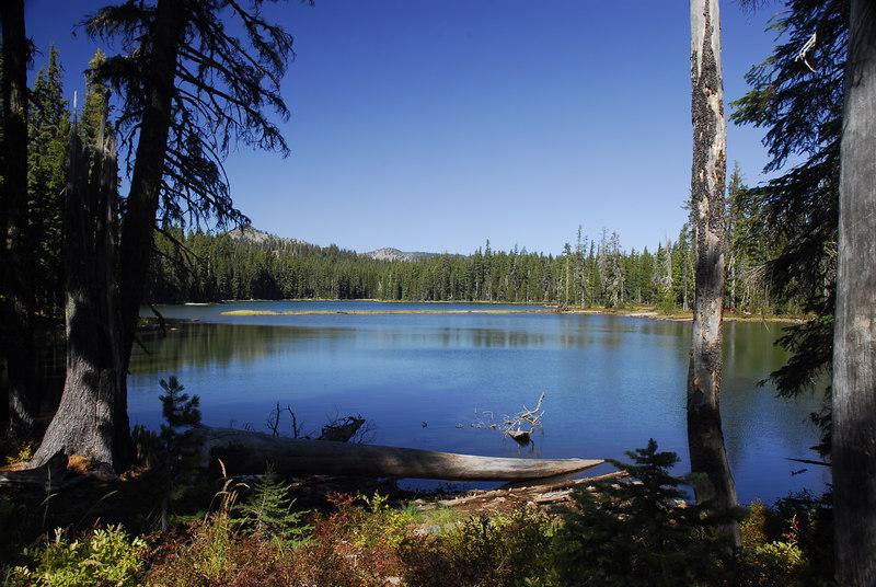 Mountain lake in Oregon