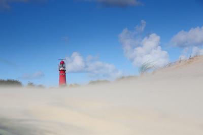 zandstorm in de duinen