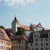 View of the castle from Colditz Town Square
