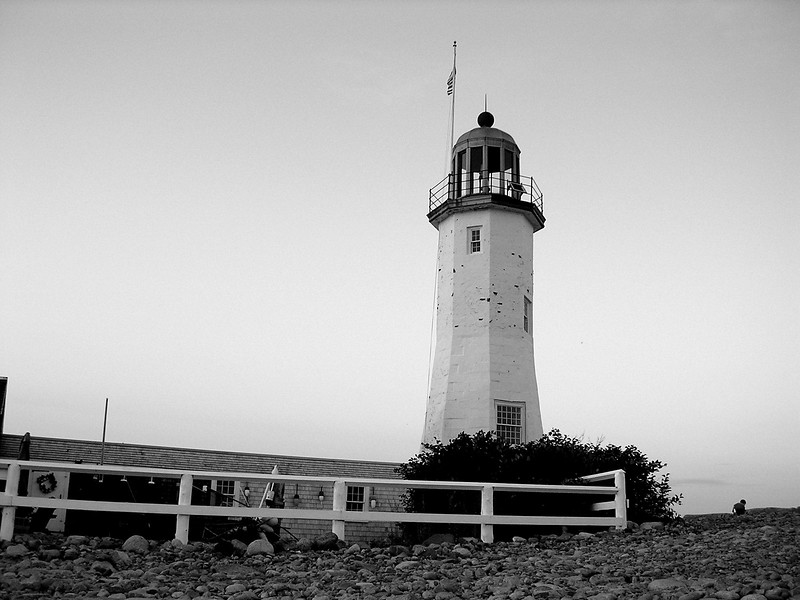 Scituate Lighthouse at Dusk
