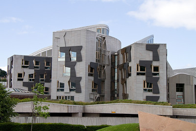 The Scottish Parliament building - not one of the prettiest by far!