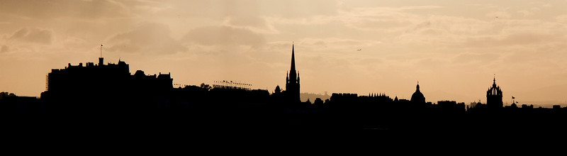 The Edinburgh skyline at sunset