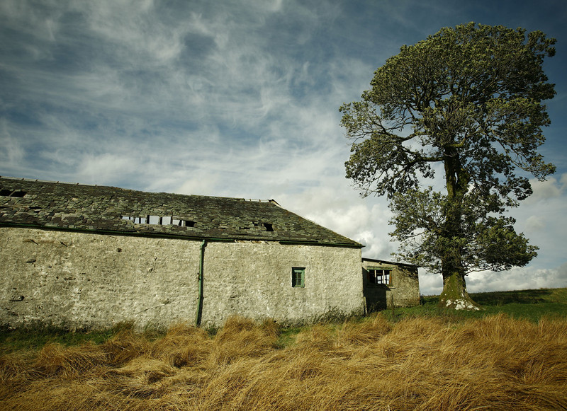 An old barn at Cornalees Farm, Clyde Muirsheil Park.