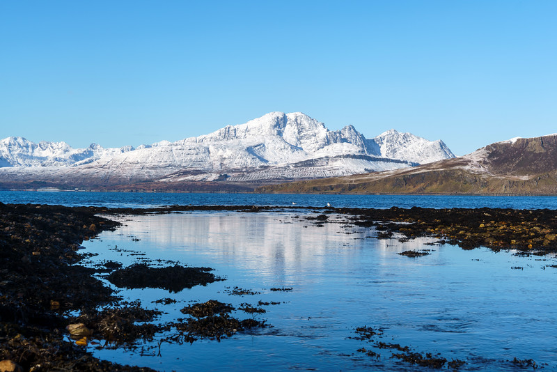 Cuillins from Ord, Sleat