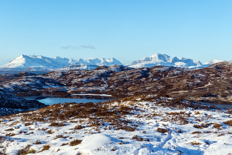 Cuillins over Loch Dhughaill, Sleat