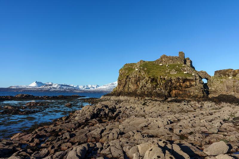 Cuillins and Dunscaith Castle, Sleat
