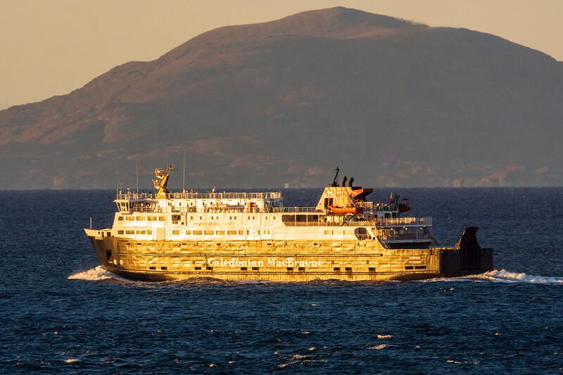 MV Hebrides past Isle of Harris en route Lochmaddy
