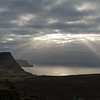 sun rays looking towards Ramasaig