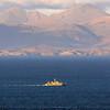 HMS Pembroke with a Harris backdrop