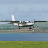 Loganair flight from Kirkwall lands at Papa Westray