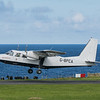 Loganair flight to Kirkwall takes off from Papa Westray