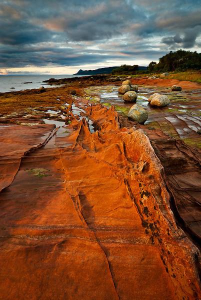 Sandstone seashore