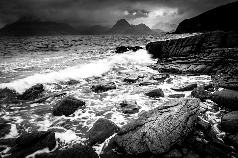 Elgol view to Cuillin Hills wide