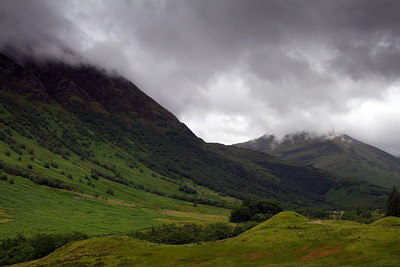 The Ben Nevis range on a stormy day (between rainfall!)