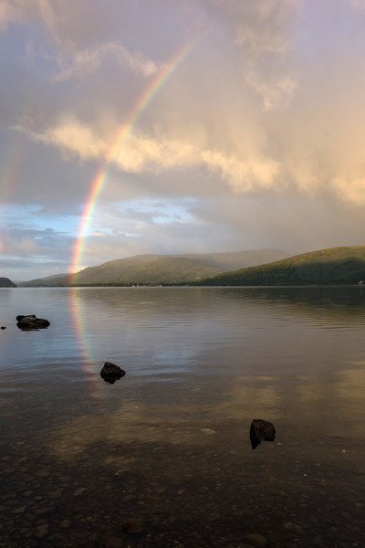 Loch Lomond Rainbow sunrise