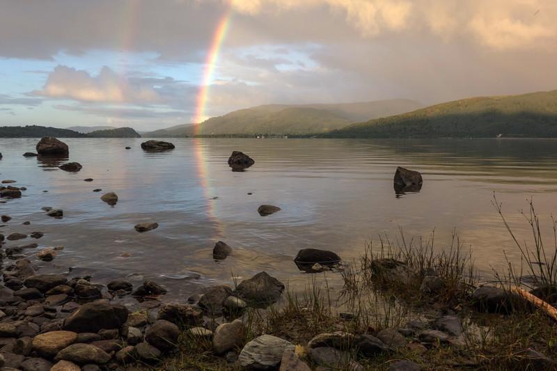 Loch Lomond Rainbow sunrise