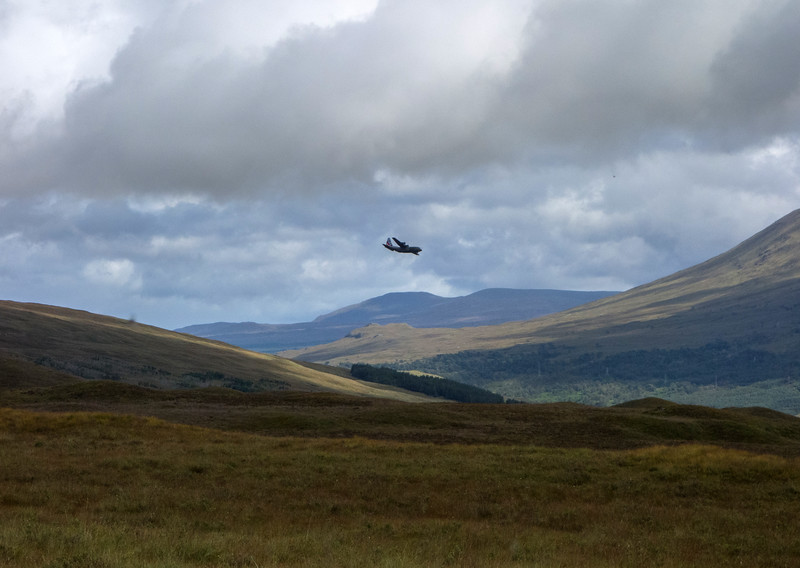 Flying over Rannoch Moor