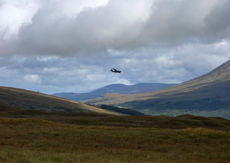 Flying over Rannoch Moor