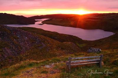 Sunset over Loch Diabaigas Àirde