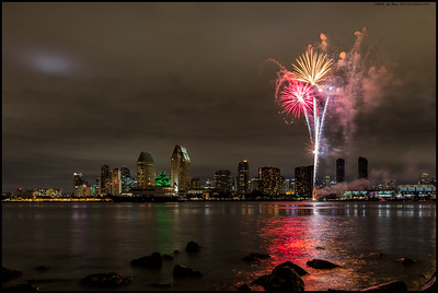 Another 'Summer Pops' fireworks show, also including a yacht that likes to 'park' in the main channel.