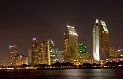 This is a view of downtown San Diego as viewed from Coronado Island