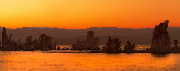 This is Mono Lake. Located along Hwy 395 on the Eastern Sierra Mountain Range in California. The lake is just south of the town of Lee Vining. The lake is filled with interesting structure known as, Tufa