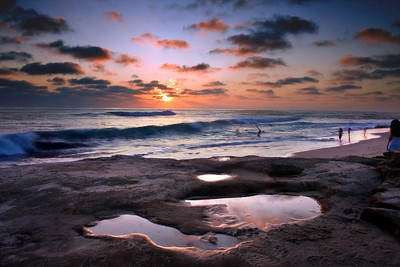 "This photo was taken in La Jolla, California at a beach known as ""wind and sea"" I used a 2-stop ND Cokin P filter and processed the inage in PS layers."