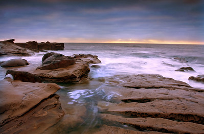 This is another seascape of the La Jolla, California coastline.