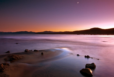 This was taken on Kings beach, Lake Tahoe, California. The sun was setting of to the west and the lake was finally calm