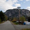 This is still what most of downtown Squamish looks like, despite the stunning scenic beauty of the area.  The Chief is in the background.