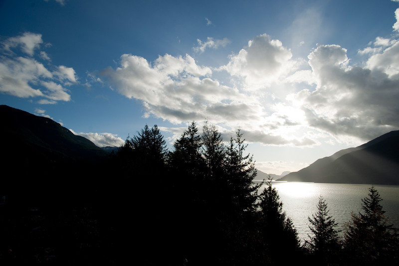 From a viewpoint on the Sea to Sky Highway.