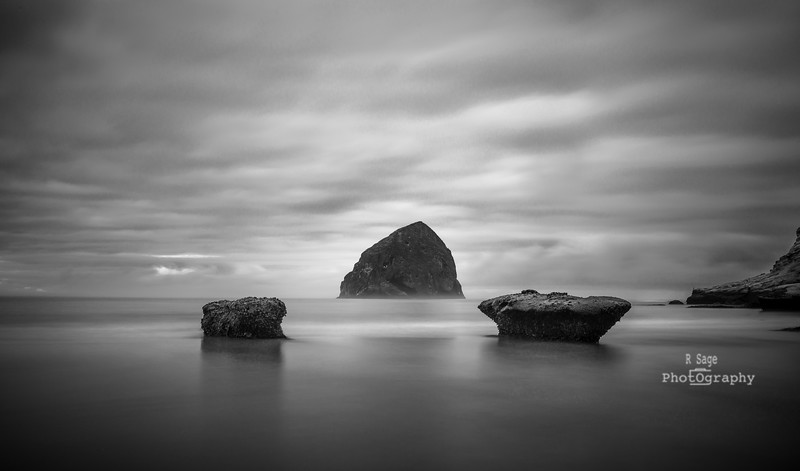 pacific city morning glow b&w-2112