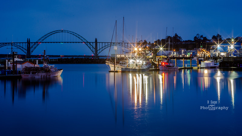 yaquina bay harbor--9445