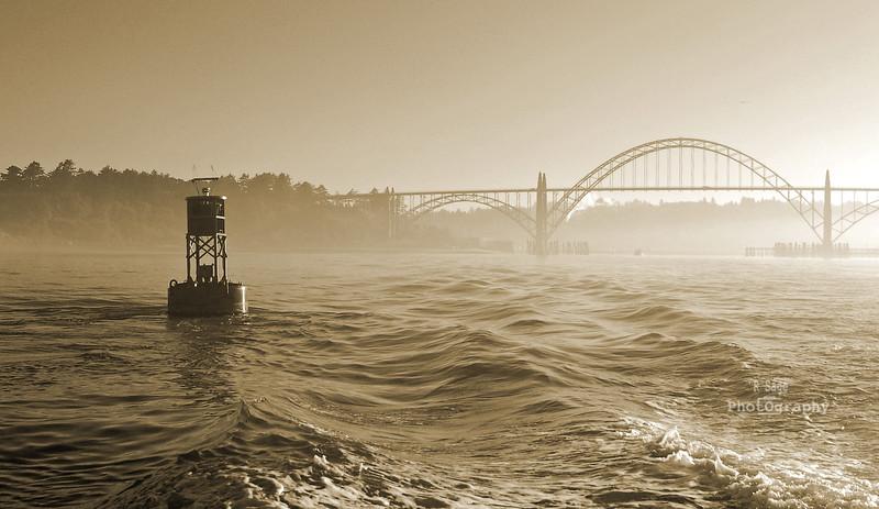 bouy & bridge sepia
