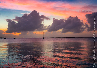 Afterglow on Clouds and Sea