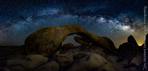 Milky Way over Arch Rock