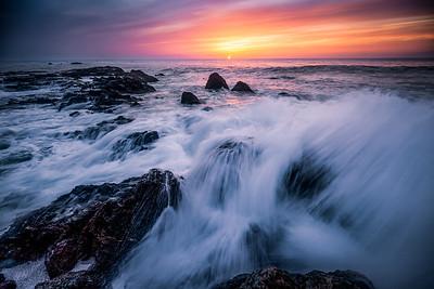 Awash in overflow of salt water